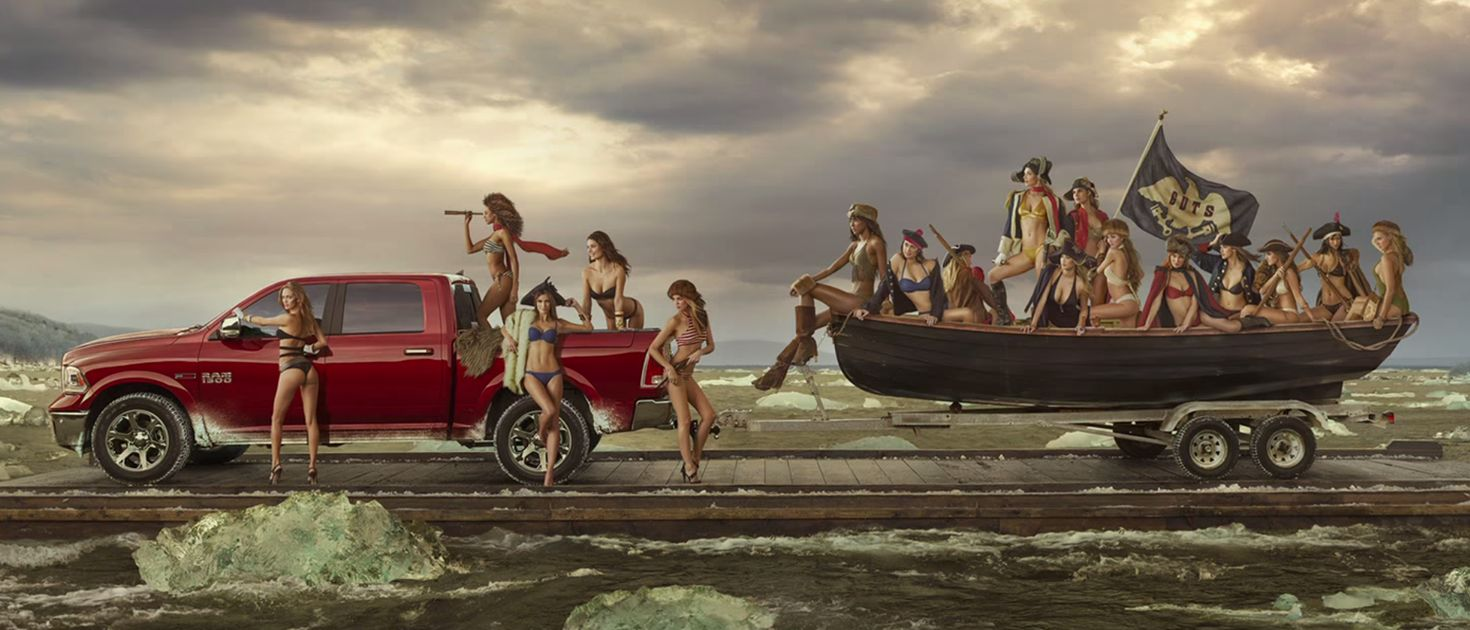 Martin Mazda Delaware >> Dodge Has Recreated The 'Washington Crossing The Delaware' Painting With Scantily-Clad Women