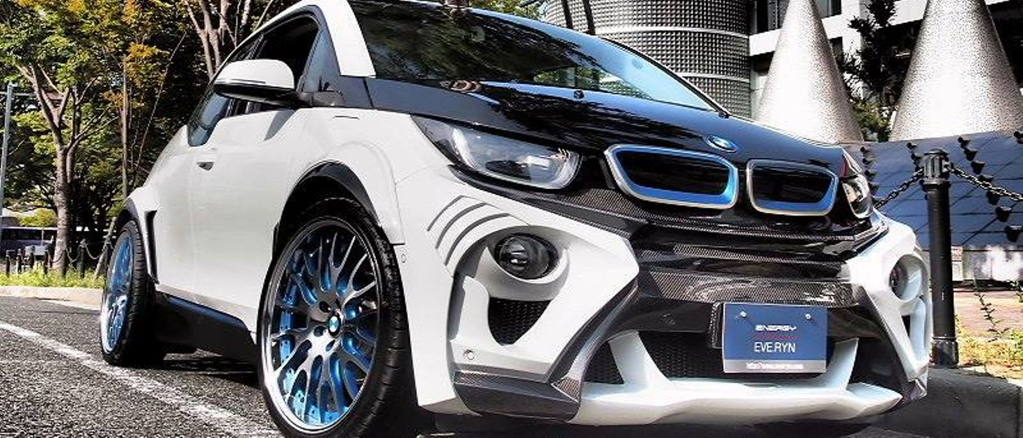 the world 39 s most extreme bmw i3 is a wide bodied ev with. Black Bedroom Furniture Sets. Home Design Ideas